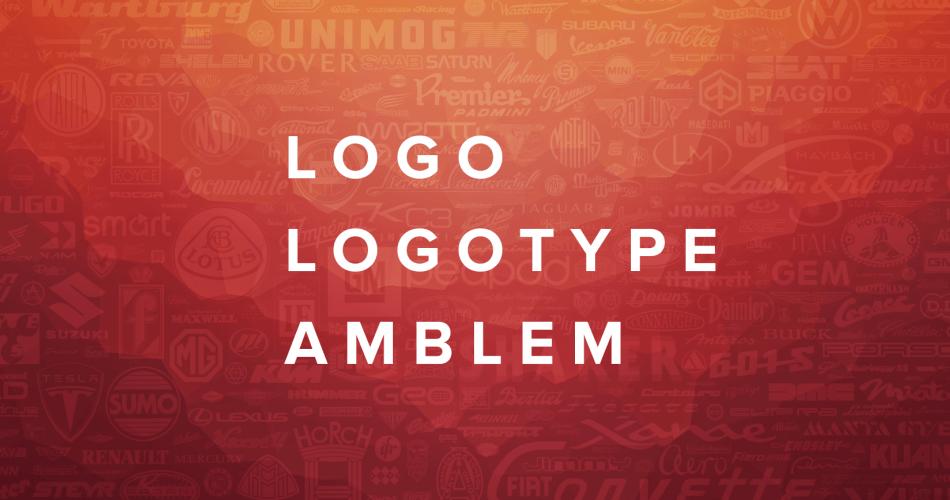 Logo, Logotype ve Amblem