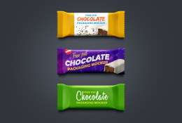 Çikolata Ambalajı Mockup