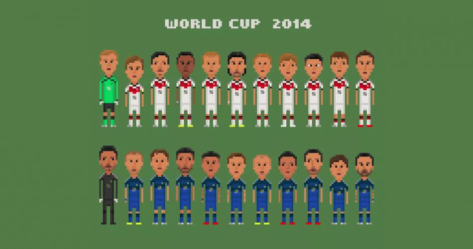 8-bit çizimlerle Dünya Kupası'nın en önemli anları