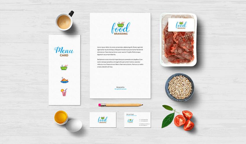 Food Branding Mockup