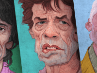 Kreatif Rolling Stones İllustrasyonları