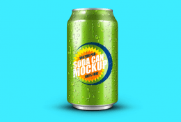 Soft Drink Can Mockup
