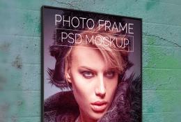 Wall Photo Poster Mockup