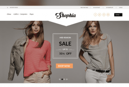 Shophia Ecommerce Template