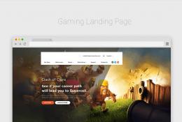 Gaming Landing Page