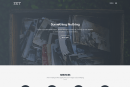 Zet – One Page Template