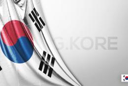 Vektörel Güney Kore Bayrağı