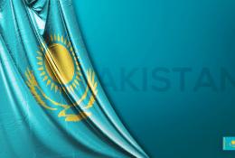 Kazakistan Vektörel Bayrağı