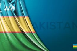 Karakalpakistan Vektörel Bayrağı
