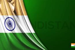 İndia Vektörel Bayrağı