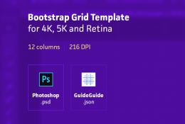 Retina Bootstrap Grid Template