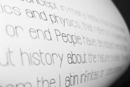 infinity yazı stili