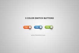 3 Renk Modern Düğmeler