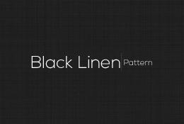 Black Linen Pattern