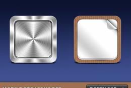 psd mobil uygulama iconları