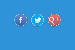 Oval Sosyal Medya Butonları Vol 2