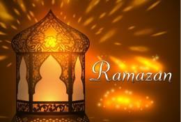 Ramazan Ayı Arkaplan Vektörü & Font