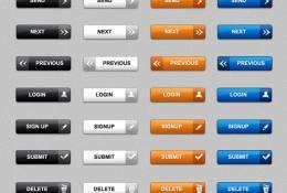 Web Buton Set Kiti- PSD