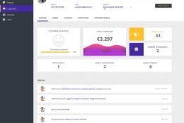 CRM Dashboard UI PSD