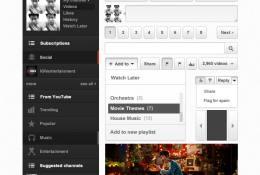 PSD Youtube Arayüzü