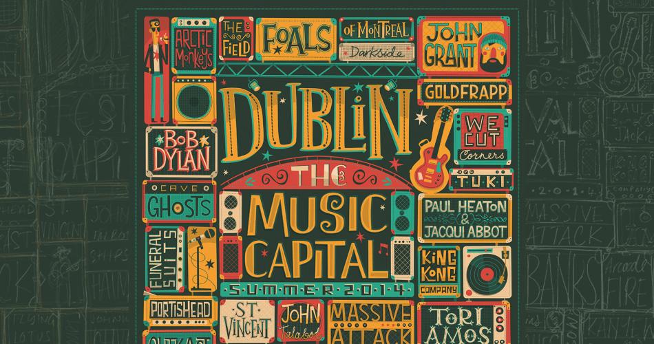 VistitDublin.ie için yapılan kreatif canlı müzik posteri