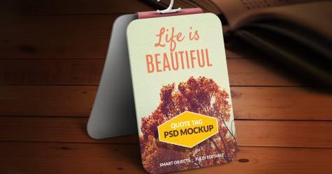 Etiket Mockup PSD