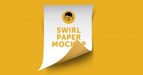 Swril Paper Mockup