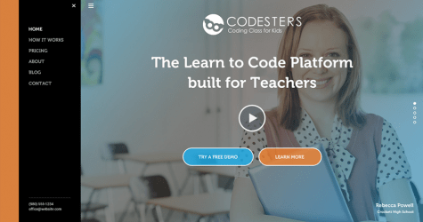 Codesters Landing Page