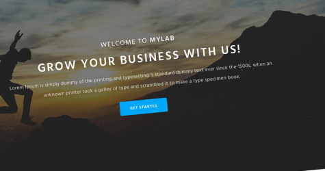 MyLab Landing Page Template
