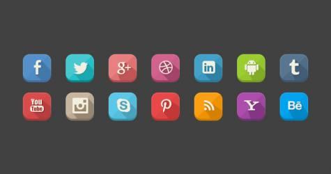 Gölgeli Sosyal Medya İkonları