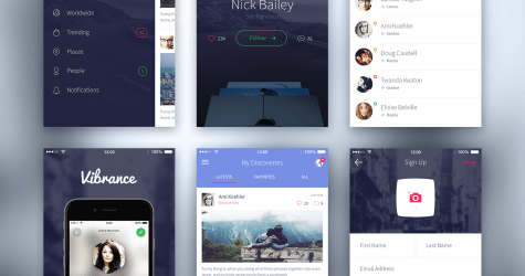 iPhone 6 UI Kit