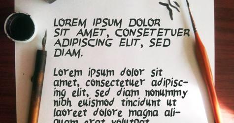 Rosco Brush Font