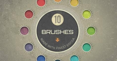 10 Adet Renkli Fırçalar