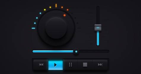Dark Müzik UI