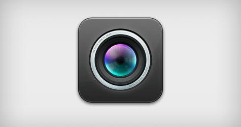 iOS lens İkonu psd