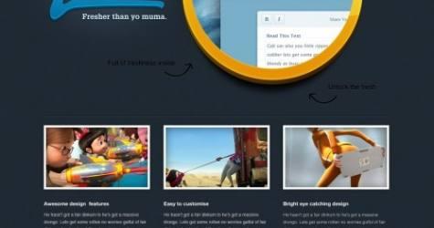 Siyah Taze App Web Sitesi Şablonu UI kiti