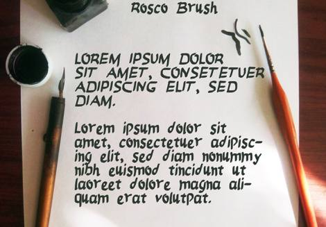 Rosco Brush Font