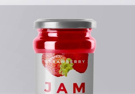 Jam Bottle Mockup
