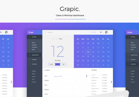 Grapic – Free Dashboard UI