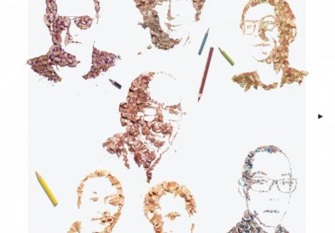 Kyle Bean'in Kalem Traş Artıklarından Portre Sanatı