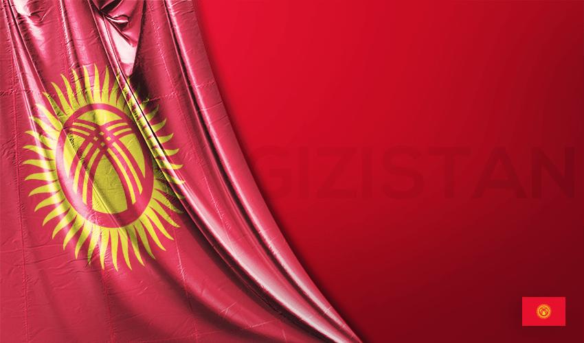 Vektörel Kırgızistan Bayrağı