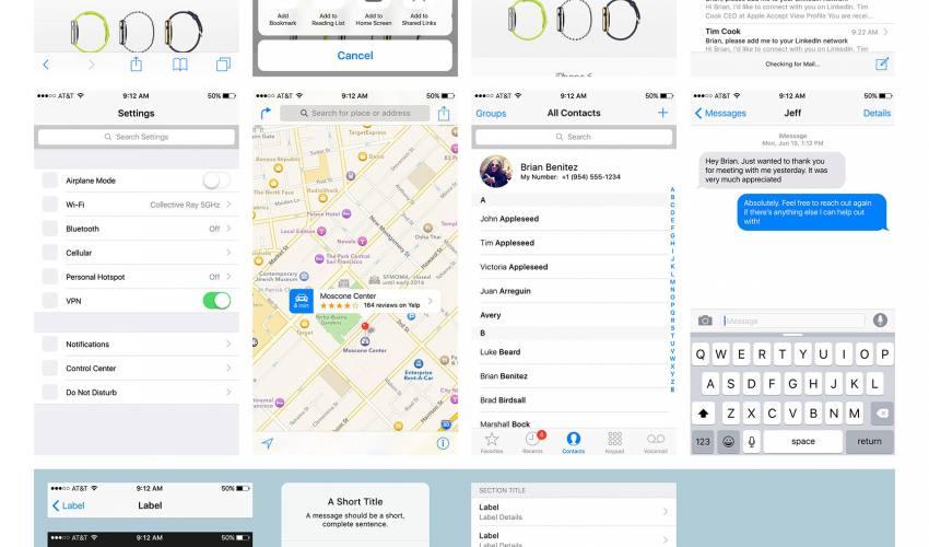 iOS 9 UI kit