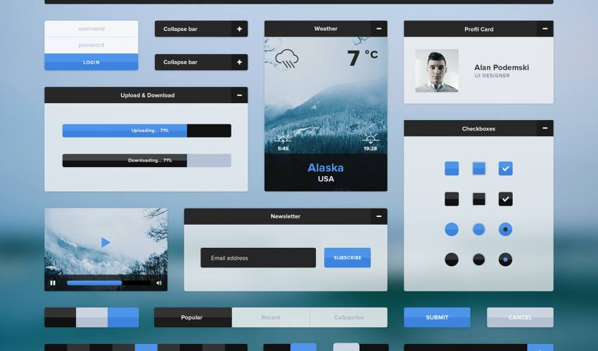 Winter UI Kit