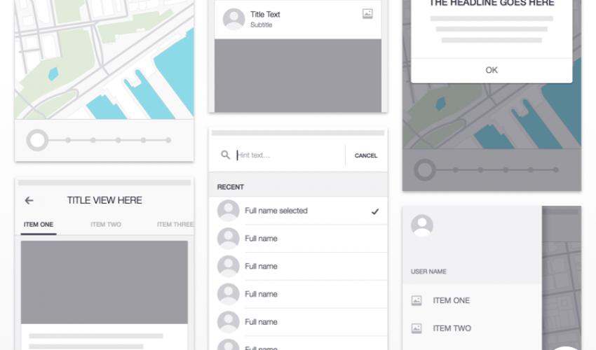 Uber iOS Wireframe Kit
