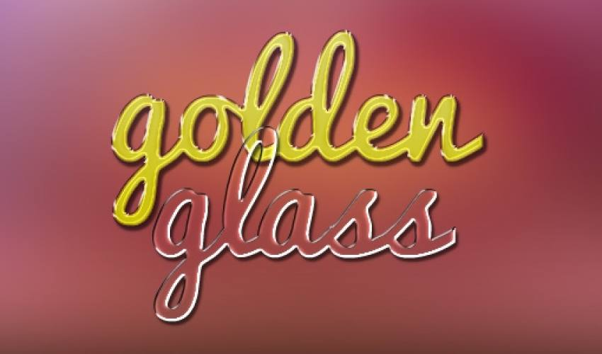 Altın ve cam metin efektleri
