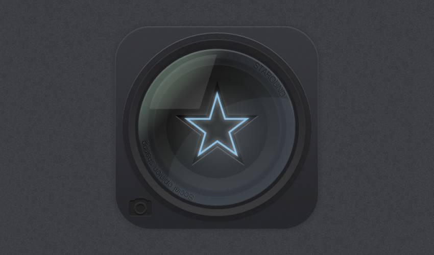 Lens İkonu PSD