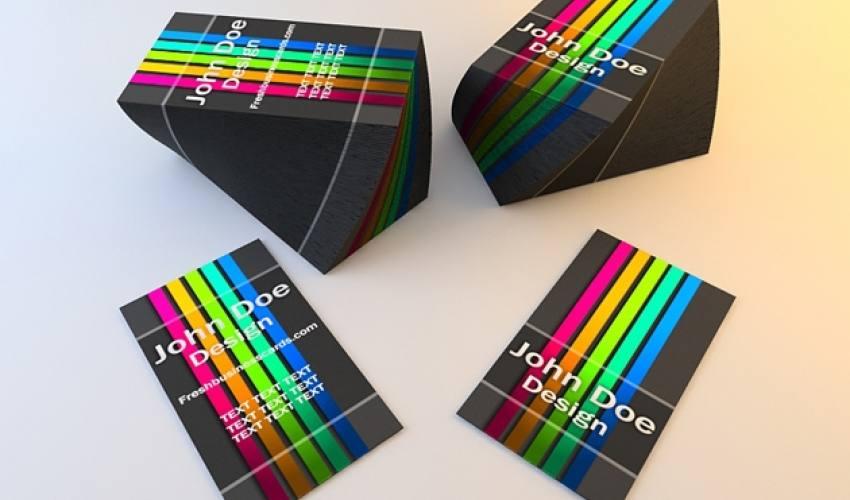 Renkli Kartvizit Şablonu