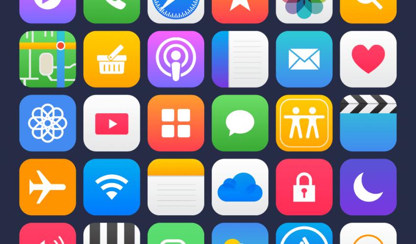 36 Apple Apps Vector İcon