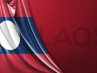 Vektörel Laos Bayrağı