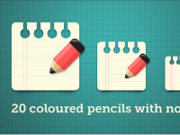 20 Çeşit Renkli Kalem ve Not